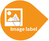 Label clickable image