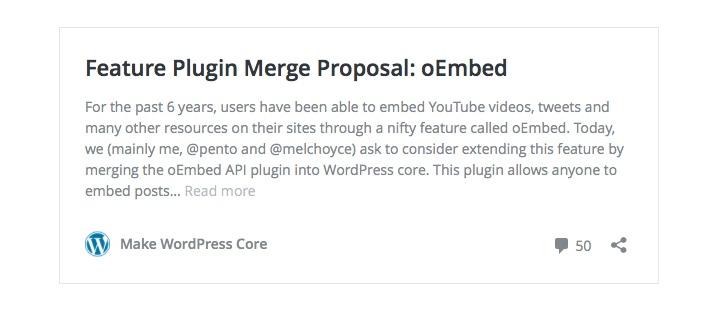 wordpress plugin oEmbed