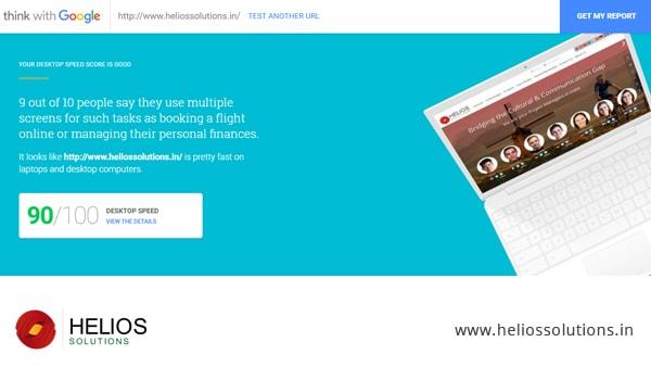 Helios Website Laptop Score